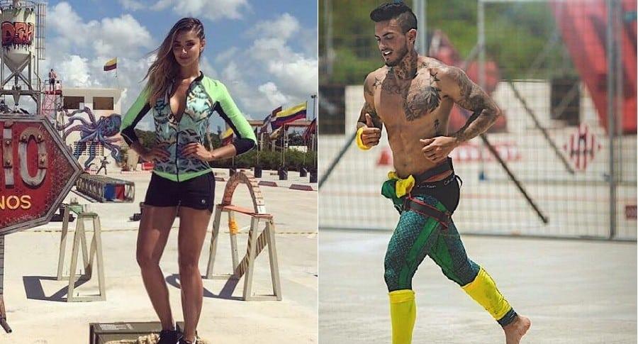 Melina Ramírez y Mateo Ramírez, presentadora y concursante del 'Desafío Súper Humanos', respectivamente.