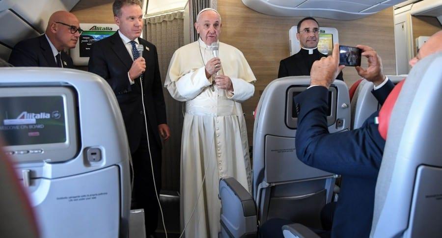 Papa en avión