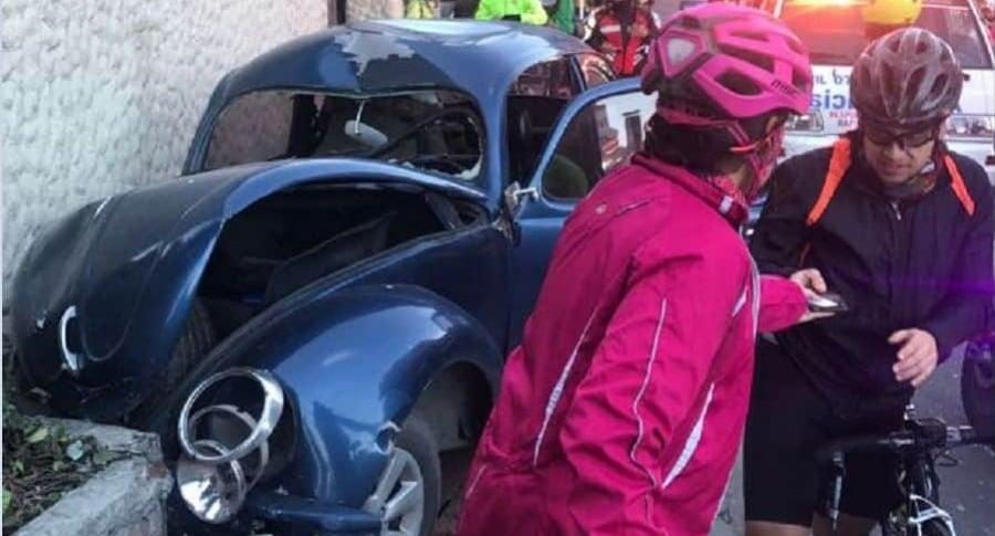 Lugar del accidente en el que murió el ciclista