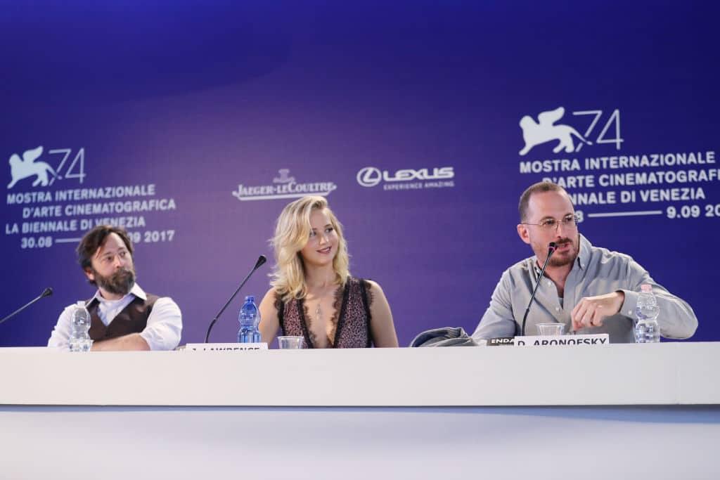 Ari Handel, Jennifer Lawrence y Darren Aronofsky
