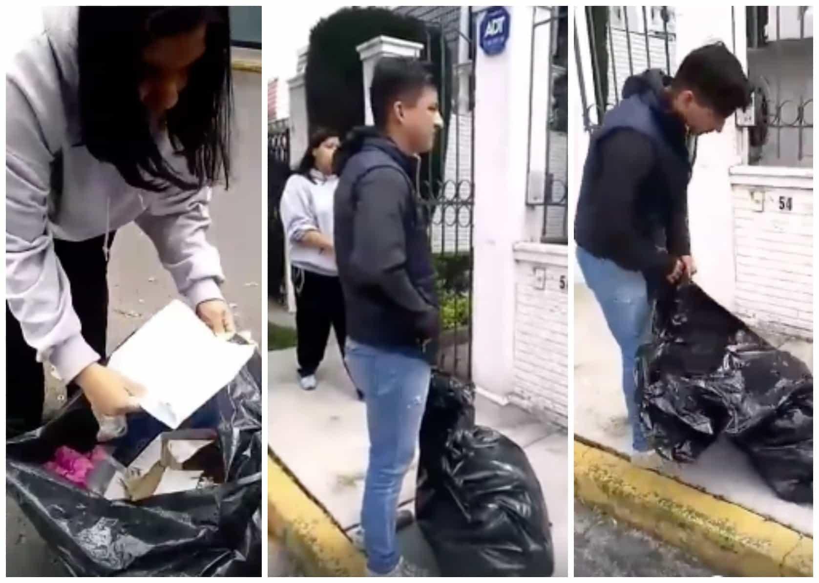 Vecinos devuelven basura a hombre que la dejó en la calle. Pulzo.