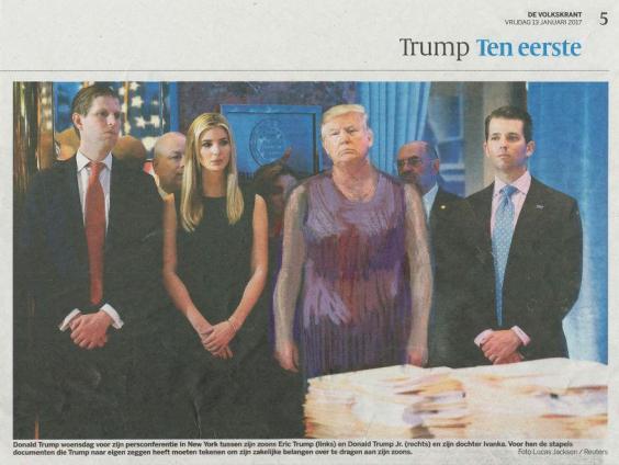 Foto de prensa de Trump