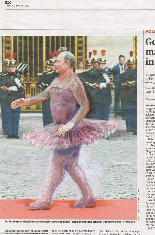 Putin vestido de mujer