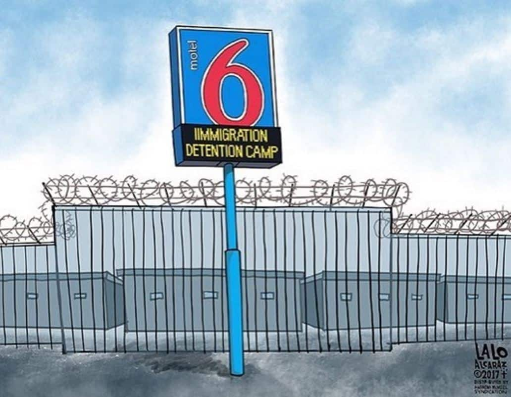 Caricatura Motel 6