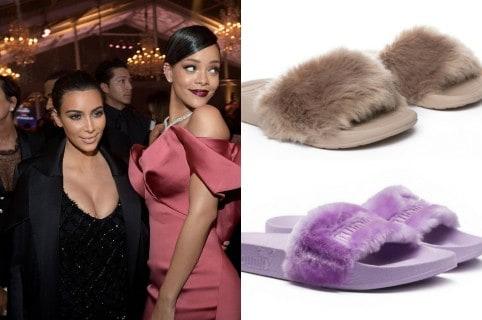 Acusan a Kim Kardashian de copiar pantuflas de Rihanna