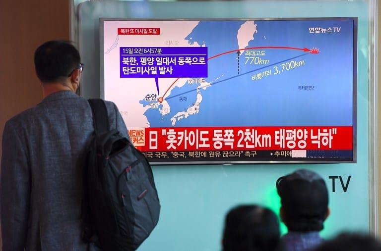 Lanzamiento de misil de Corea del Norte sobre Japón. Pulzo.