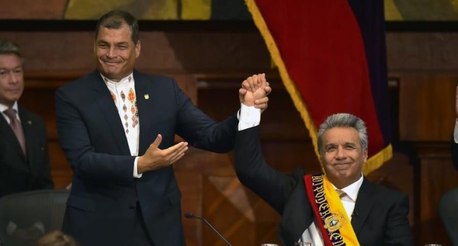 Rafel Correa y Lenín Moreno