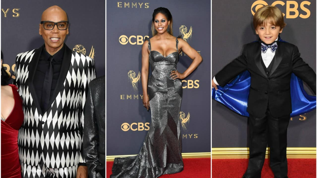 RuPaul, Laverne Cox y Jeremy Maguire