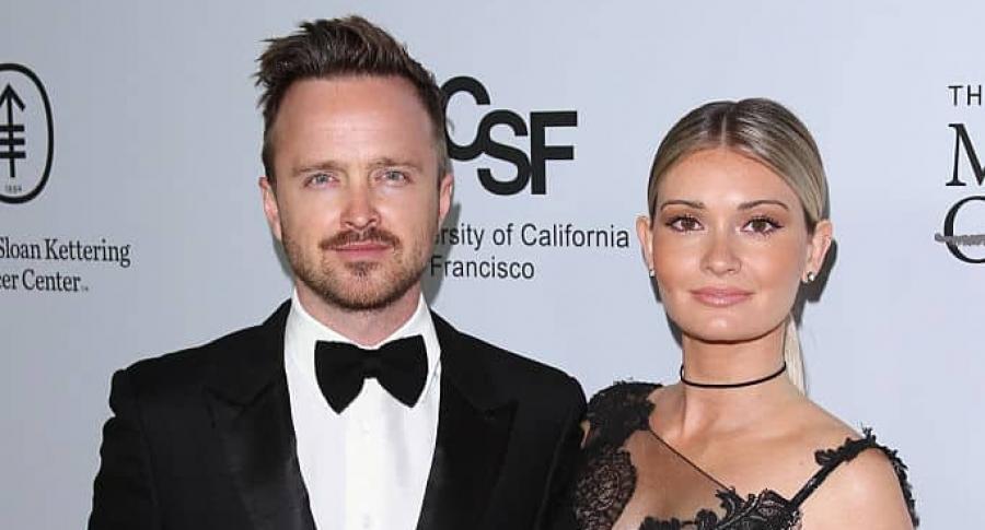 Aaron Paul y su esposa, Lauren