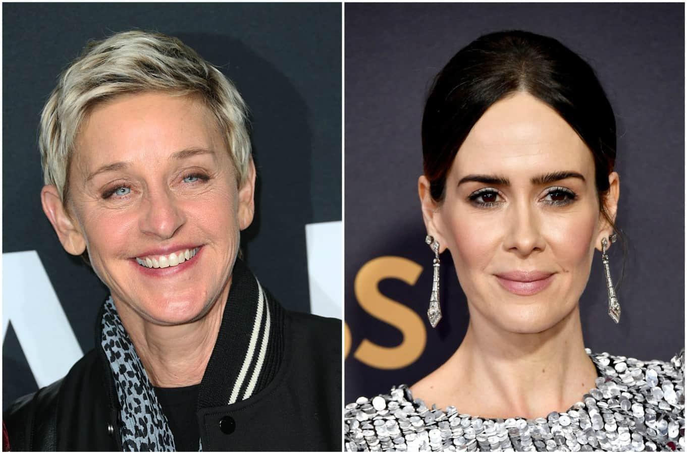 Ellen DeGeneres y Sarah Paulson. Pulzo.