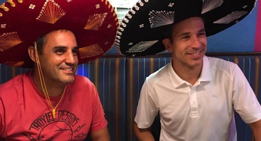 Juan Pablo Montoya y Helio Castroneves