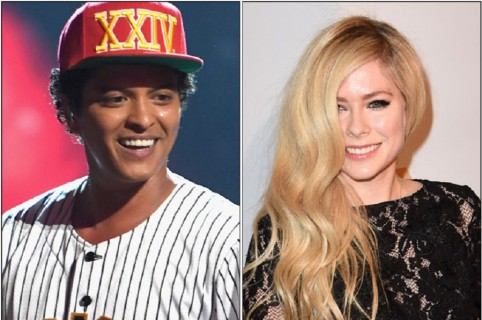 Bruno Mars y Avril Lavigne