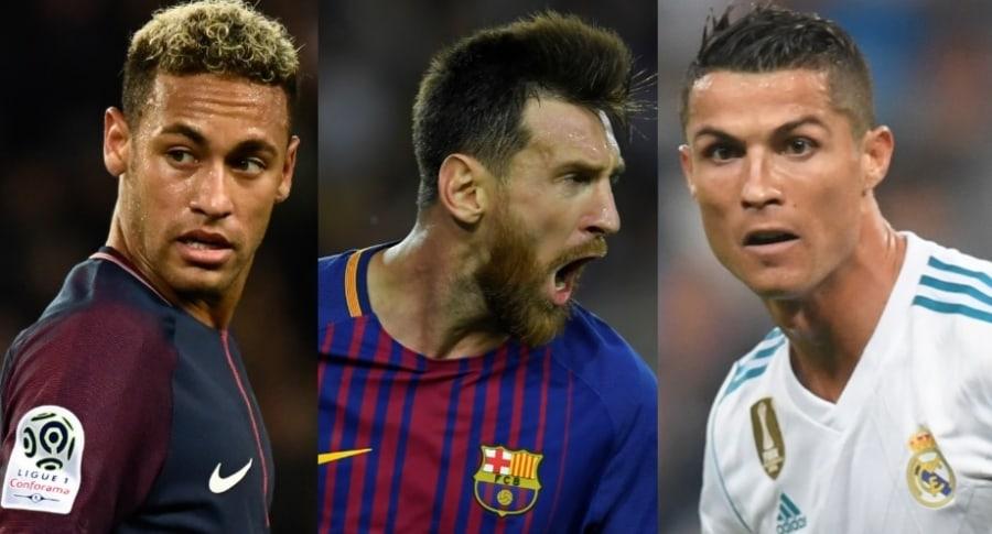Neymar, Messi y Cristiano Ronaldo