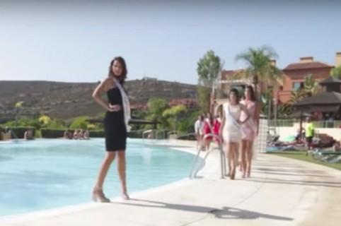 Candidata a Miss Universo España que cayó a una piscina. Pulzo.