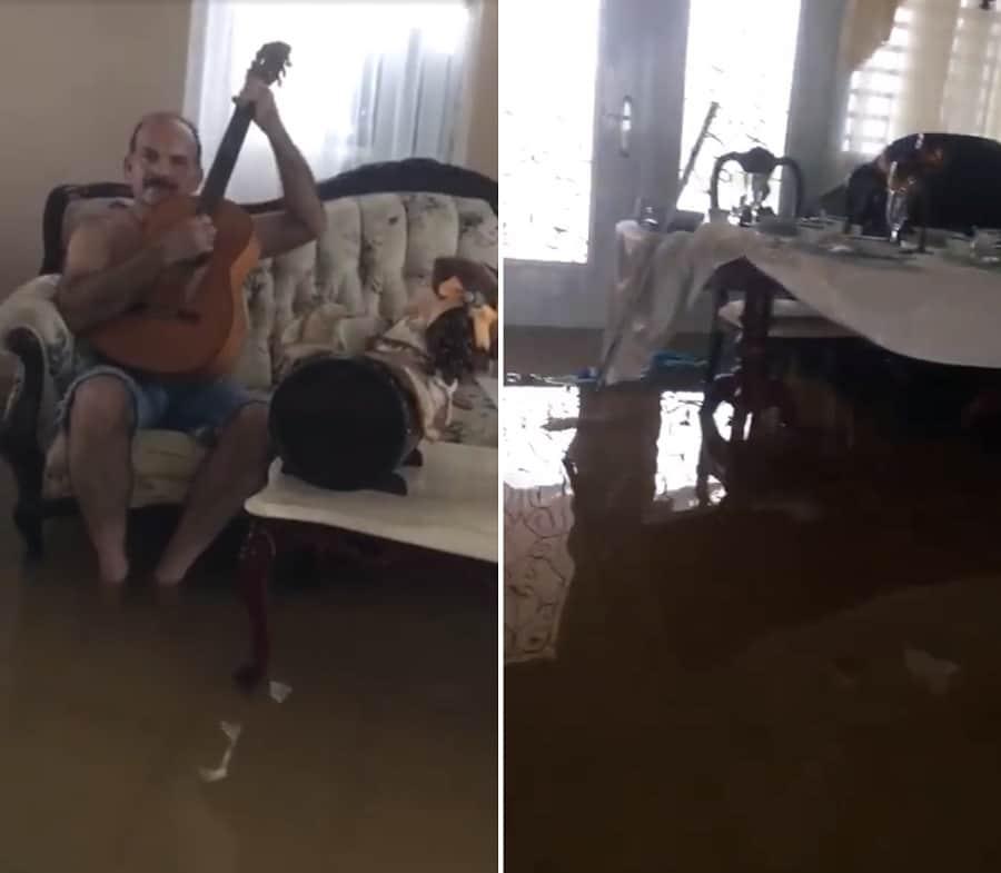 Casa inundada en Puerto Rico