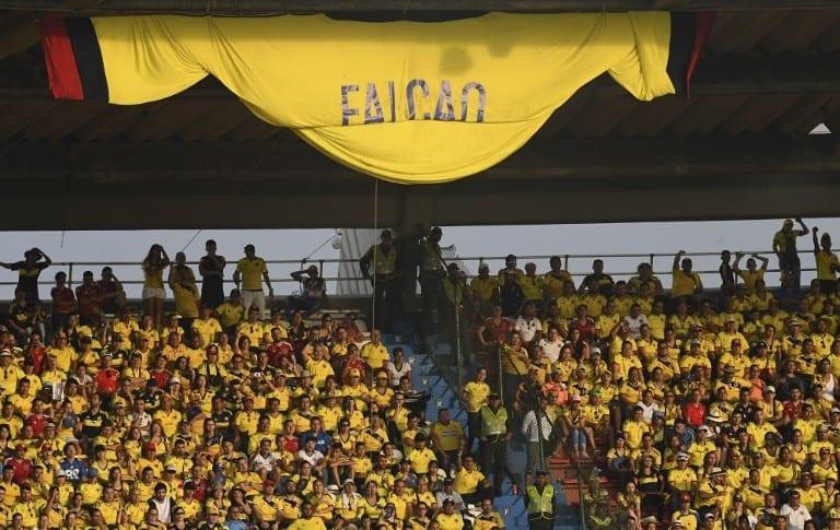 Hinchada en Barranquilla