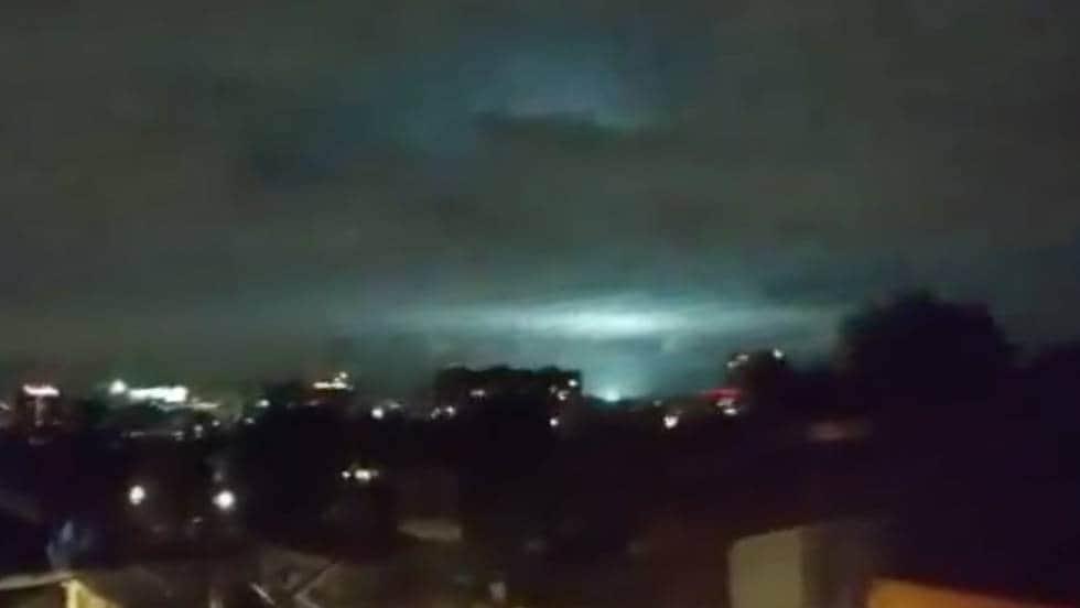 Luces en el cielo durante terremoto de México
