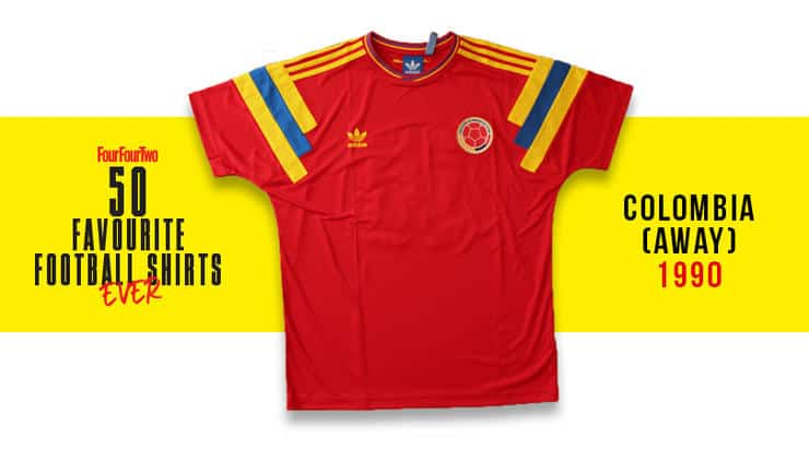 Camiseta de Colombia en Italia 90 d786167000ed4