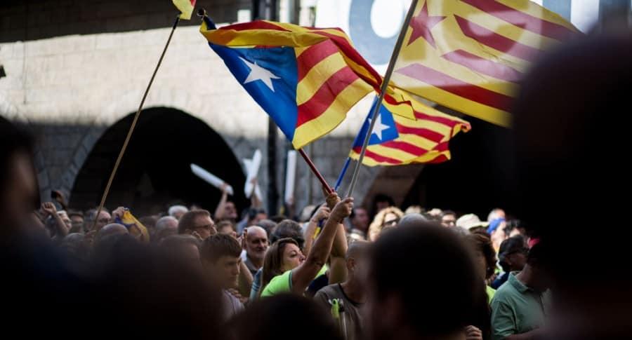 Manifestación a favor de la independencia de Cataluña