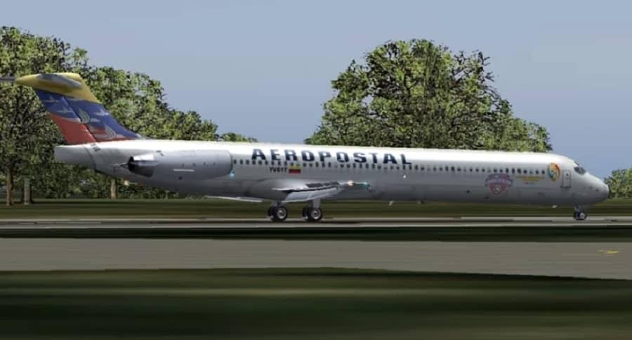 Avión de Aeropostal