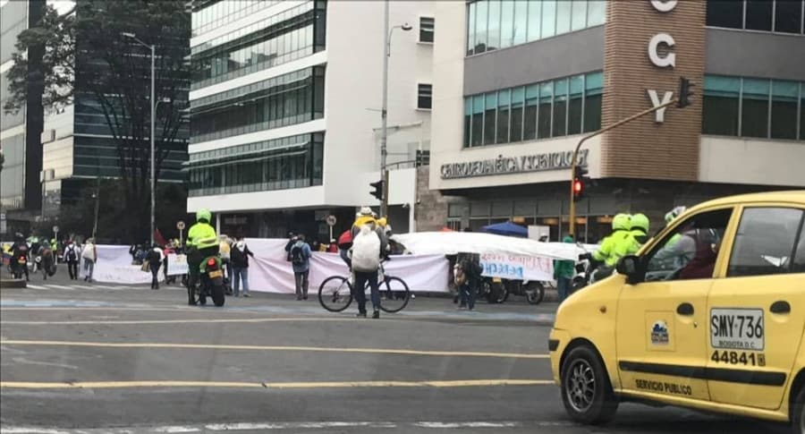 La manifestación comenzó en la calle con carrera 19