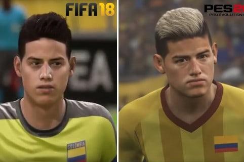 James Colombia en FIFA y PES 18
