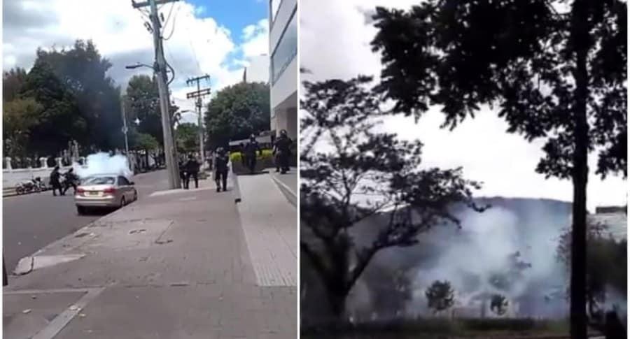 Disturbios en la Universidad Pedagógica.