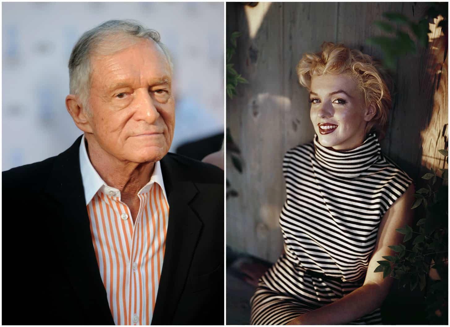 Hugh Hefner y Marilyn Monroe. Pulzo.