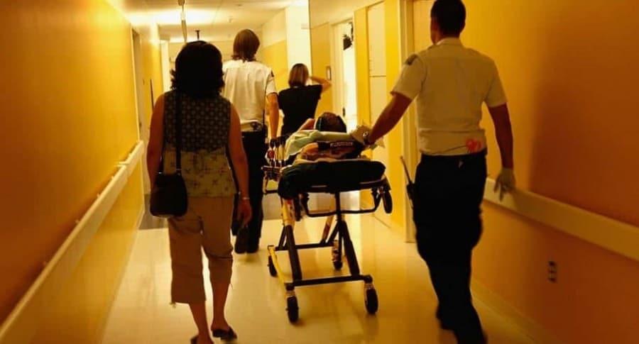 Paciente hospitalizado. Pulzo.