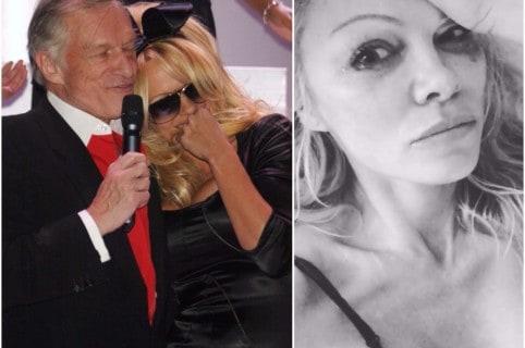 Pamela Anderson y Hugh Hefner