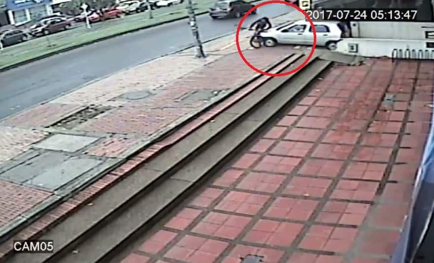 Momento del accidente ocurrido en el norte de Bogotá