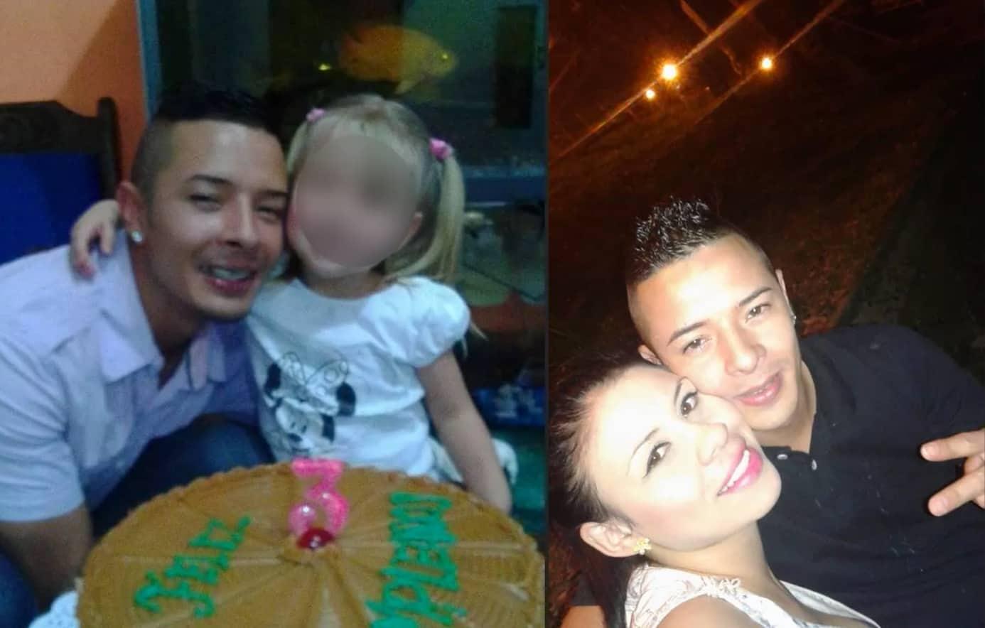 Jefferson Cardona Villa y la mamá de la pequeña asesinada