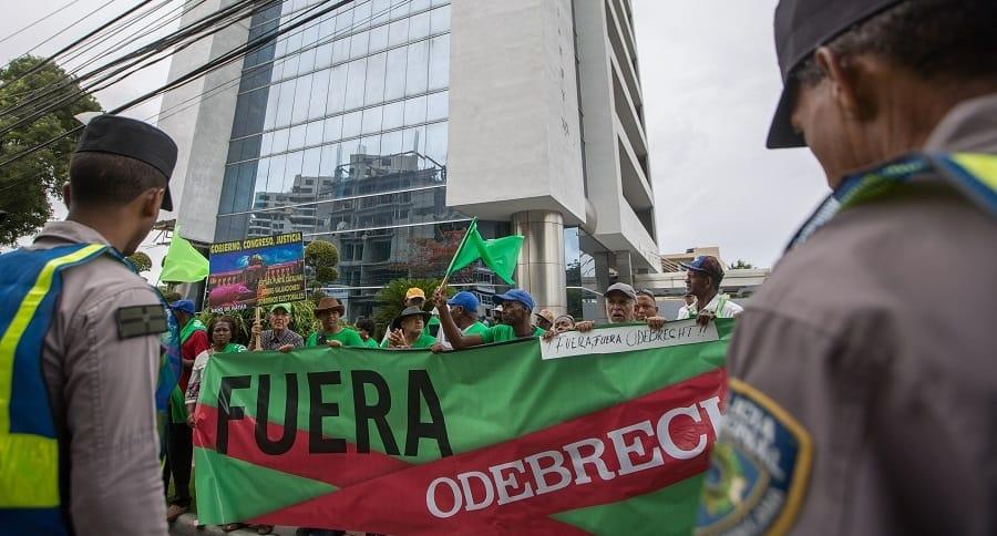 Protestas contra Odebrecht en Santo Domingo.