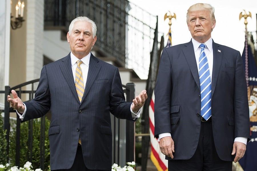 Rex Tillerson y Donald Trump