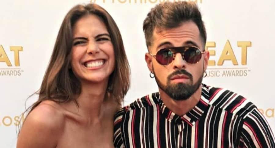 Greeicy Rendón y su novio, el cantante Mike Bahía.
