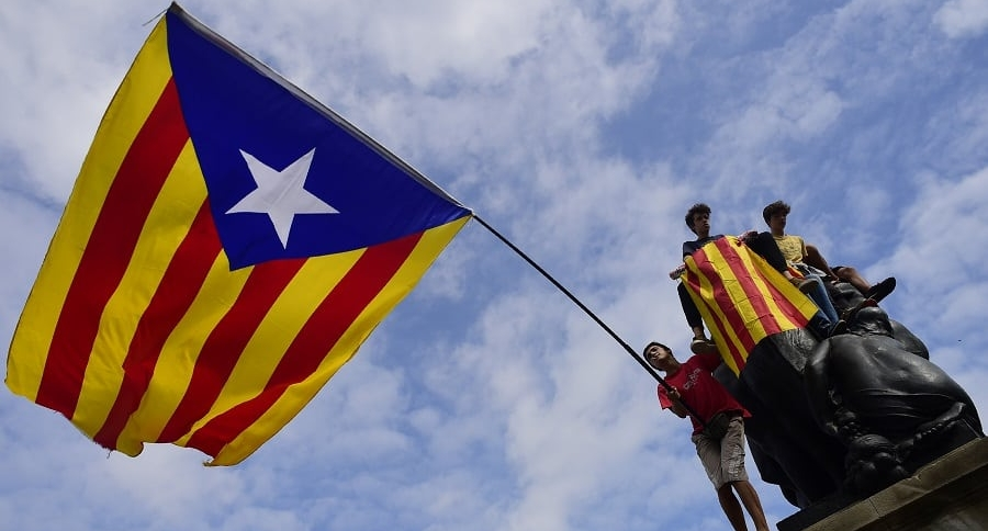 Bandera Catalana a favor de la independencia