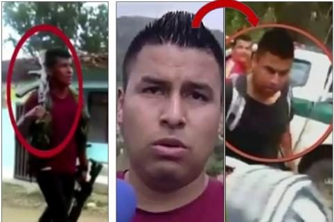 A la izquierda, Andrés Ibarra Gutiérrez, alias 'Crespo'; en el centro y a la derecha, Armin Yelsin Tálaga