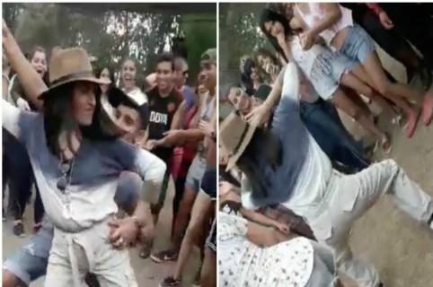 Profesora baila con estudiantes en Salta, Argentina. Pulzo.