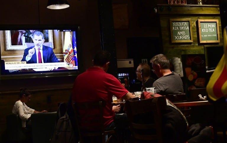 Transmisión por TV del discurso del rey de España