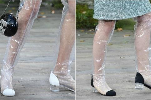 Botas plásticas transparentes Chanel