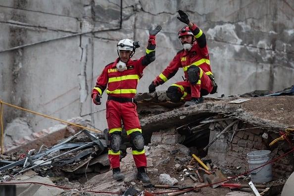 Rescatistas en Ciudad de México