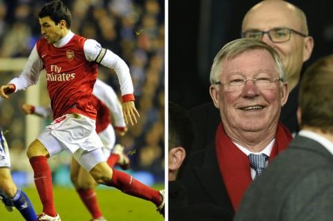 Cesc Fábregas y Alex Ferguson