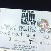 Boleta de Paul McCartney