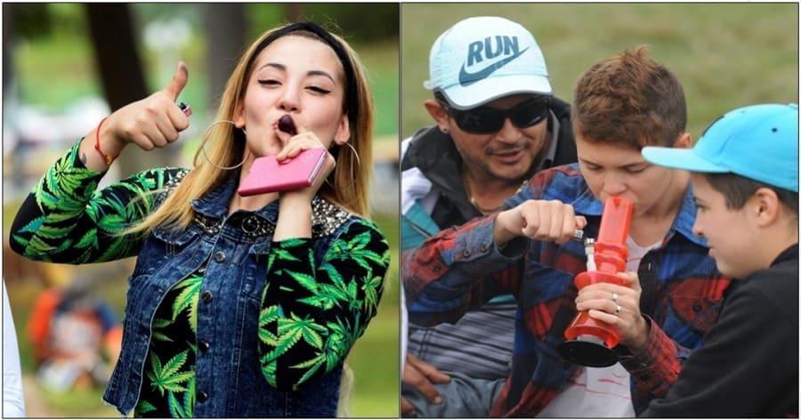 Jóvenes consumiendo drogas