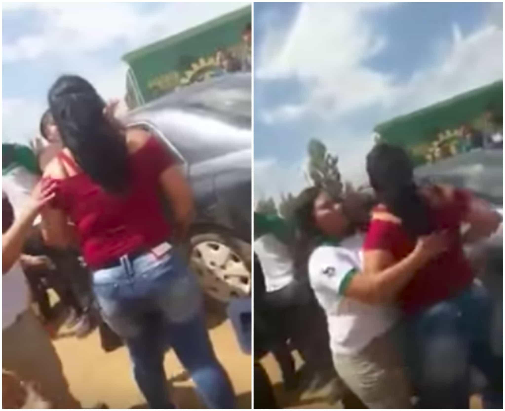 Mujer que agredió a estudiante. Pulzo.