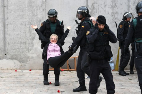 Acción de la policía en Barcelona