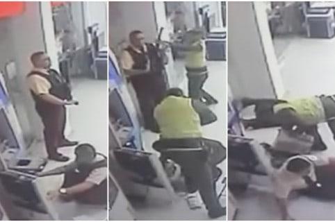 Ladrones vestidos de policía asaltan a guardias de valores