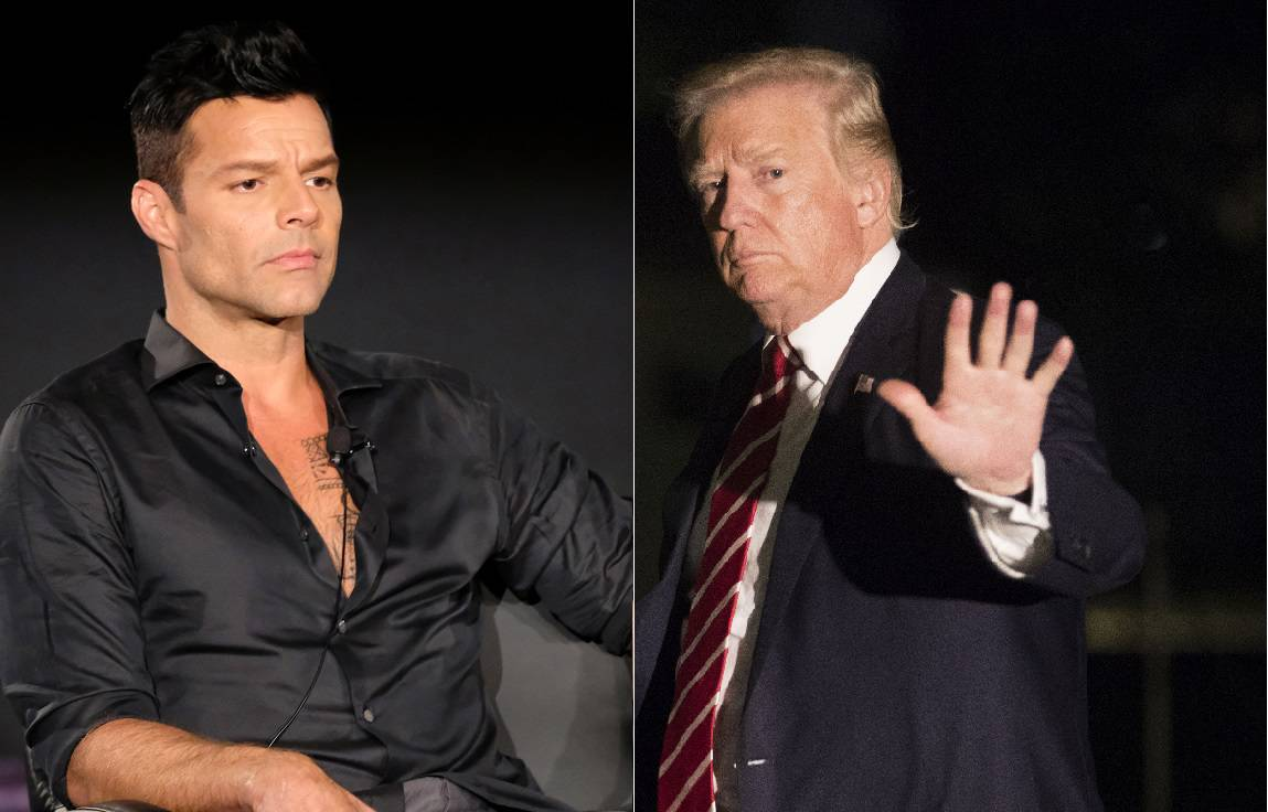 Ricky Martin, cantante, y Donald Trump, presidente de Estados Unidos.
