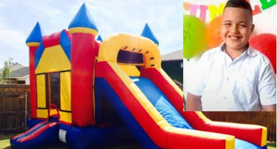 El menor Juan Andrés Londoño Villa (foto) cayó de un juego infantil