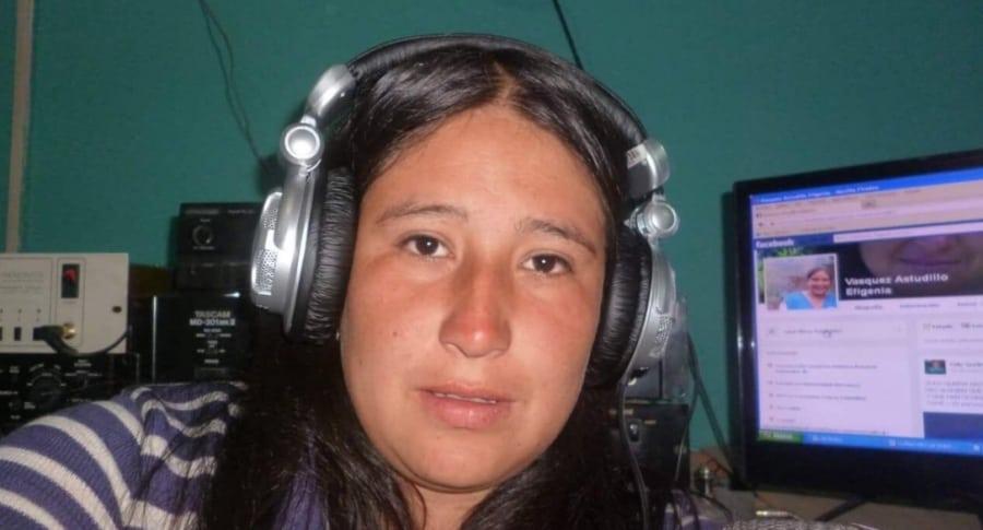 Comunicadora indígena María Efigenia Vásquez Astudillo. Pulzo.